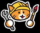 cat working